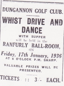 dungannon golf club advert 001
