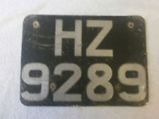 hz numberplate