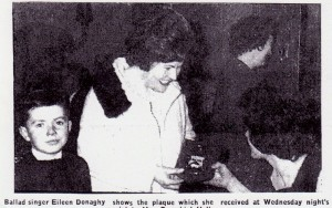 Eileen Donaghy showing plaque 001 001