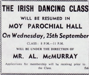 IRISH DANCING MOY HALL 1963 001