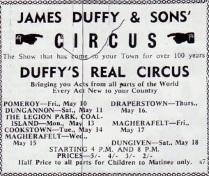 JAMES DUFFY AND SONS CIRCUS 1963 001