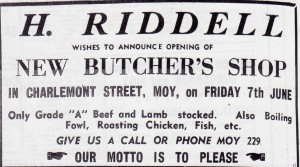 RIDDLES NEW BUTCHERS 1963 001